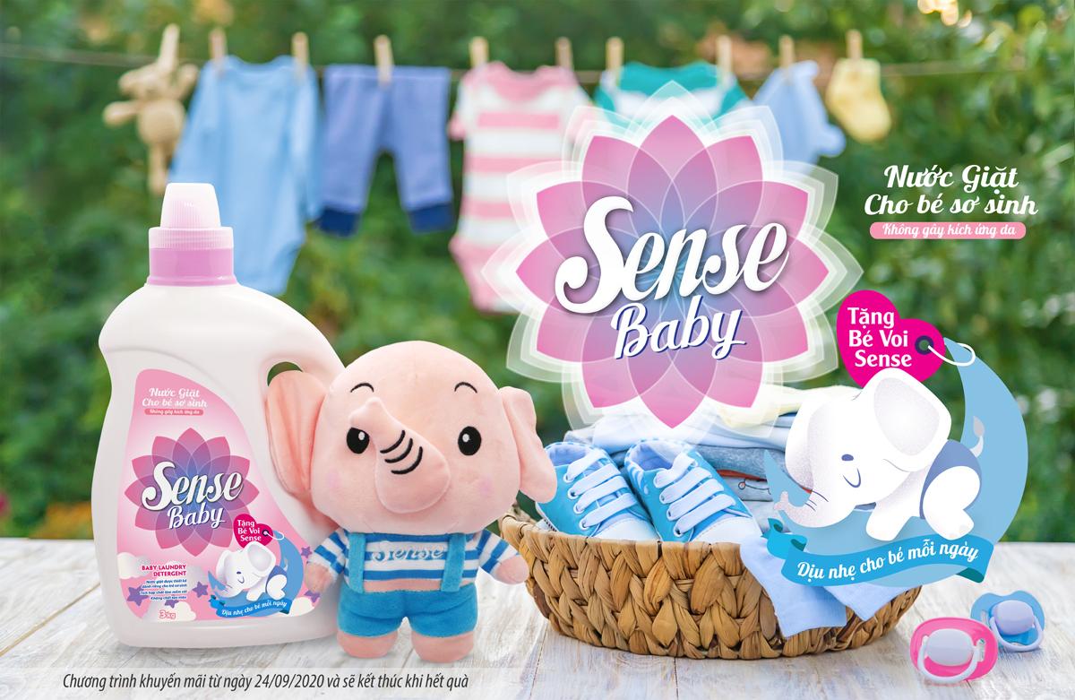 nước giặt sense baby cho bé